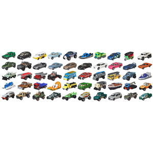Pack Of 50 Individually Wrapped Matchbox Cars