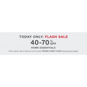 Flash Sale: Save Up To 70% On Home Essentials