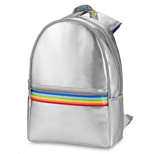 Silver Rainbow Stripe Backpack
