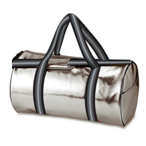 Metallic Silver Duffel Bag