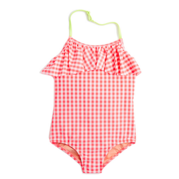 Crewcuts Girls' Ruffle One-Piece Swimsuit