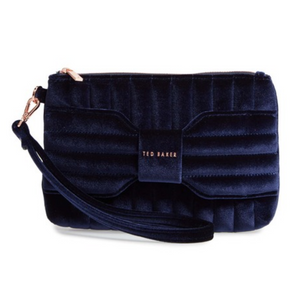 Ted Baker London Velvet Wristlet (2 Colors)