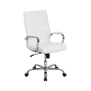 Flash Furniture High Back White Leather Executive Swivel Chair