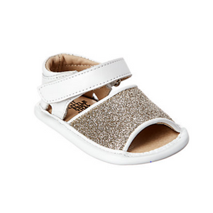 Kids Glitter Leather Sandal