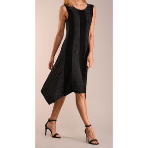 Contrast Panel Sidetail Dress - Women & Plus