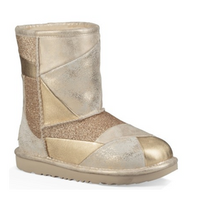 Kids UGG Classic Short Metallic Boots