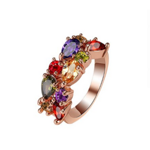 Rose Goldtone Statement Ring