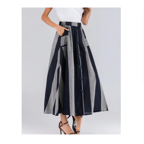Color Block Maxi Skirt