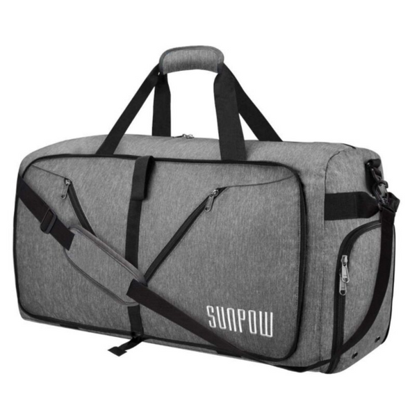 Tear Resistant Duffel Bag With Shoe Compartment