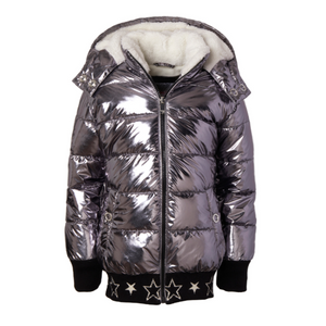 Girls Metallic Puffer Jacket (3 Colors)