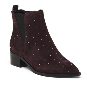 Marc Fisher Studded Suede Booties