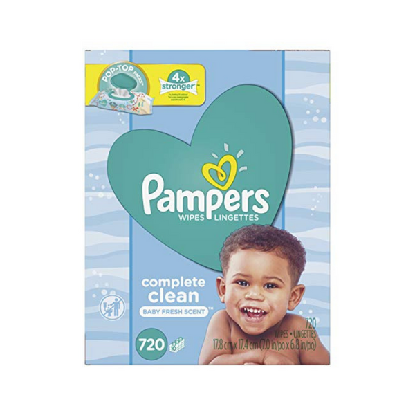 2 Boxes Of Pampers Sensitive Water Baby Diaper Wipes (1440 Count)
