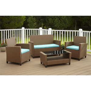 Outdoor Living 4 Piece Wicker Patio Set