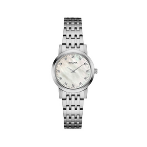 Bulova Women's Diamond Dial Mother of Pearl Watch