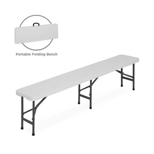 6ft Portable Plastic Folding Bench With Handle