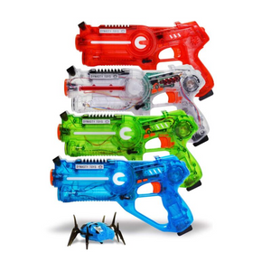 Set Of 4 Laser Tag Blasters and 1 Target Robot Bug