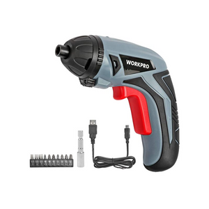 Workpro Cordless Rechargeable Power Screwdriver With Bits