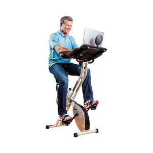 FitDesk Desk Exercise Bike and Office Workstation with Massage Bar