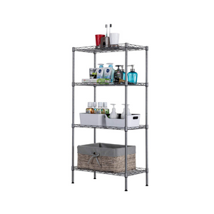 4 Tier Adjustable Wire Shelving Metal Storage Rack