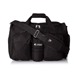 Everest Gym Bag with Wet Pocket (Black)