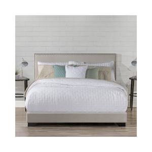 Hillsdale Willow Nailhead Trim Upholstered Bed (Queen Size)