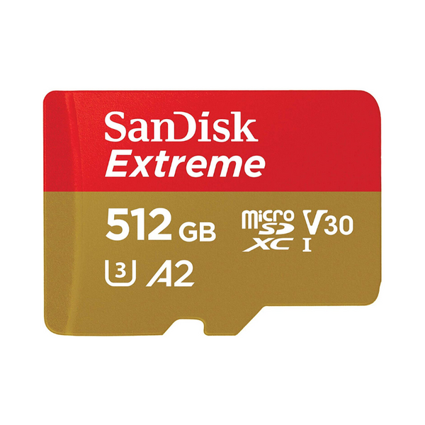 SanDisk 512GB Extreme MicroSDXC UHS-I Memory Card with Adapter