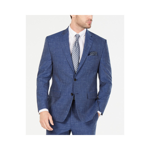 Lauren Ralph Lauren Mens Classic Fit Stretch Textured Suit Jacket (Indigo)