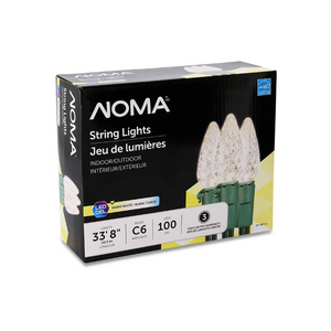 NOMA LED Christmas Lights | 70-Count C6 Classic Clear White Bulbs