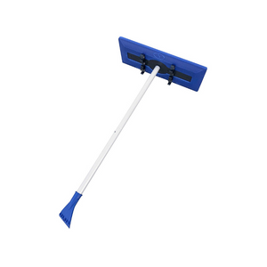 Snow Joe 2-in-1 Snow Broom With Scratch Free Foam Head + Large Ice Scraper