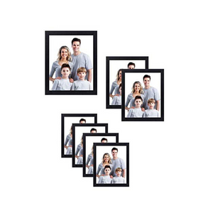 Nuvita 7 Piece Black Photo Frame Wall Gallery Kit