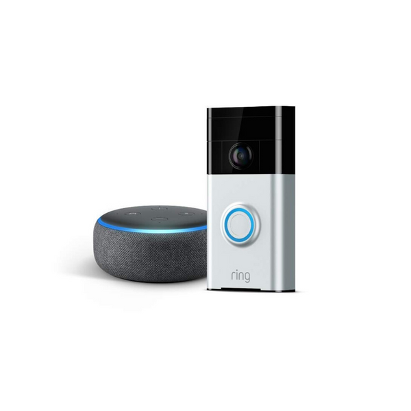 Ring Wi-Fi Video Doorbell With Echo Dot 3rd Generation