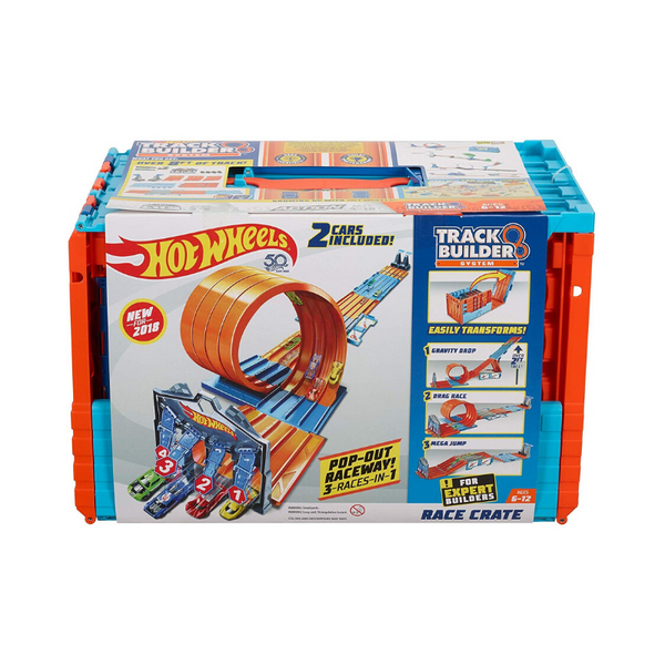 Hot Wheels Track Builder System Race Crate & Stunt Set