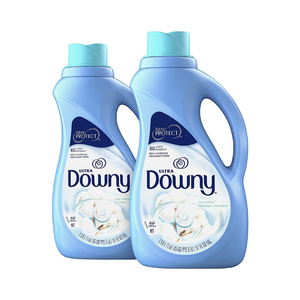 2 Bottles Of Downy Ultra Cool Cotton Liquid Fabric Conditioner