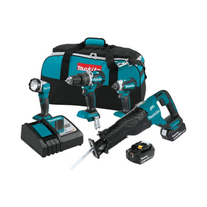 Makita 18V LXT Lithium-Ion Brushless Cordless Combo Kit (4 Piece)