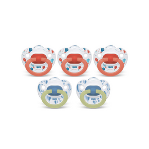 5 Pack Of NUK Orthodontic Pacifiers