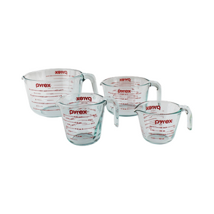 4-Piece Pyrex Glass Measuring Cup Set