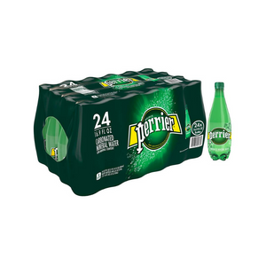 24 Bottles Of Perrier Carbonated Mineral Water