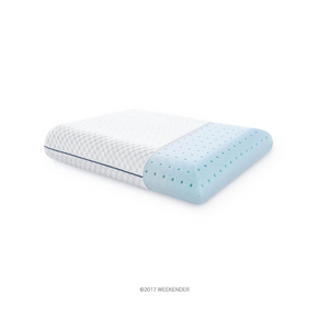 WEEKENDER Ventilated Gel Memory Foam Pillow - Washable Cover (Standard Size)