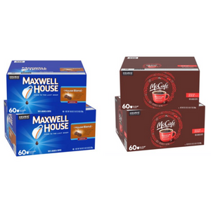 120 McCafé Or Maxwell Premium/Medium Roast K-Cup Coffee Pods
