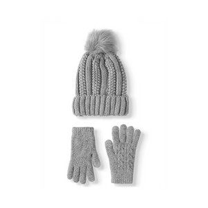 Pom Beanie and Gloves Gift Set (4 Colors)