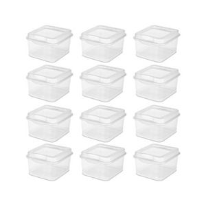12 Pack Of Sterilite Flip Top Mini Containers