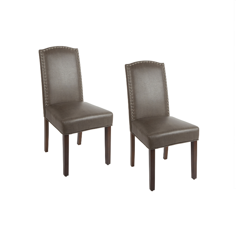 Set Of 2 Faux Leather Dining Room Chairs (3 Colors)