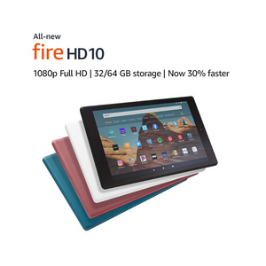 32GB Amazon Fire HD 10 Tablet w/ Special Offers (Newest Model, various colors)