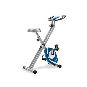 XTERRA Fitness Folding Exercise Bike, Silver
