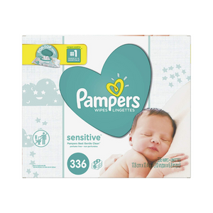 Pack Of 336 Pampers Sensitive Water Baby Wipes