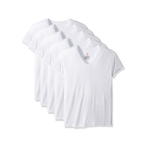 Hanes Men's 5-Pack ComfortBlend V-Neck T-Shirts
