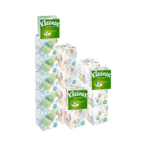 18 Cube Boxes Of Kleenex Tissues