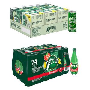 30 Cans Of Perrier Or 24 Bottles Of Perrier On Sale