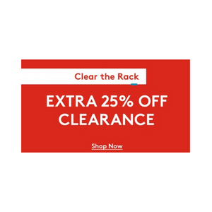 Extra 25% Off Clearance Items