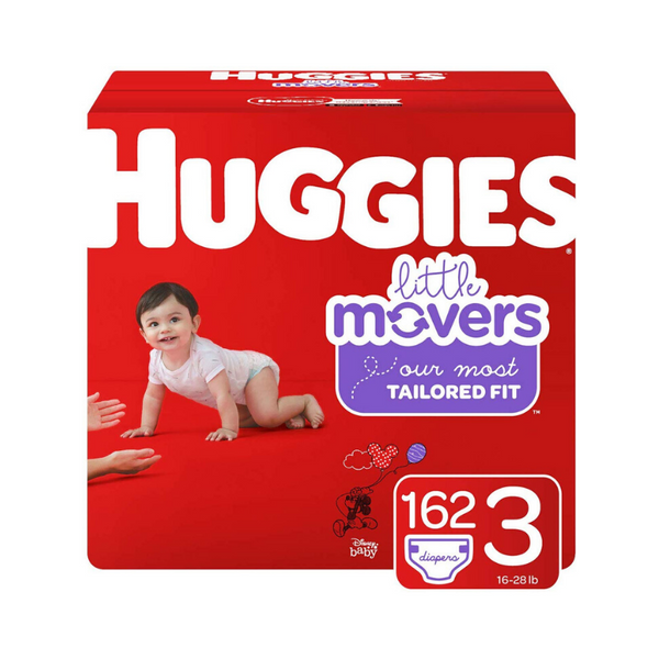 Huggies Little Movers Baby Diapers (Sizes 3, 4, 5, 6)